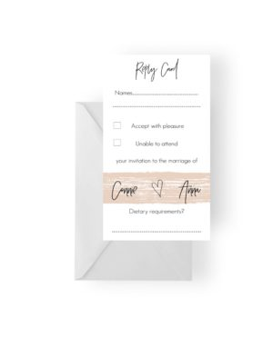 007 Nude Watercolour Brush Modern RSVP Card WEB