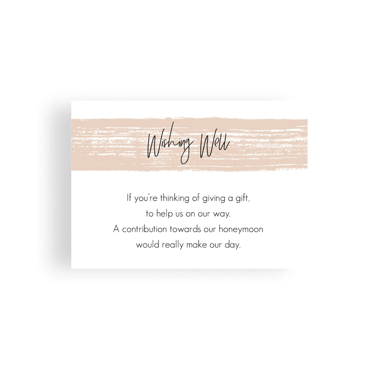 008 Nude Watercolour Brush Modern Wishing Well Card WEB