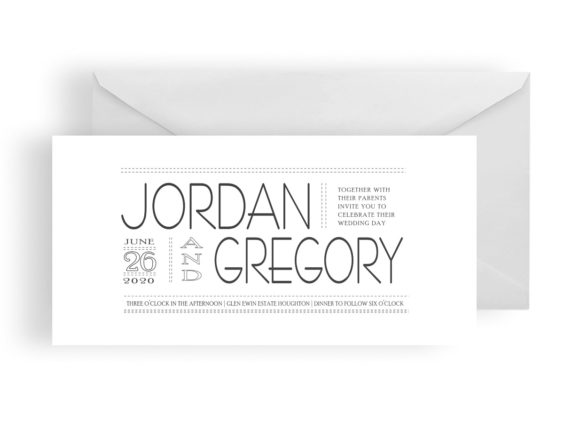 009 Contemporary Wedding Invitation WEB