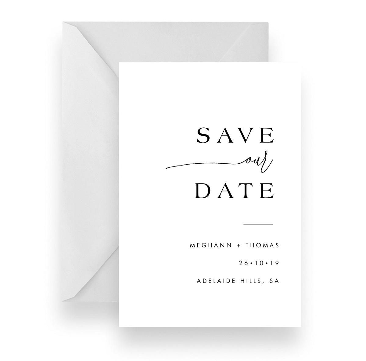 019 Stylish Save our Date Card WEB