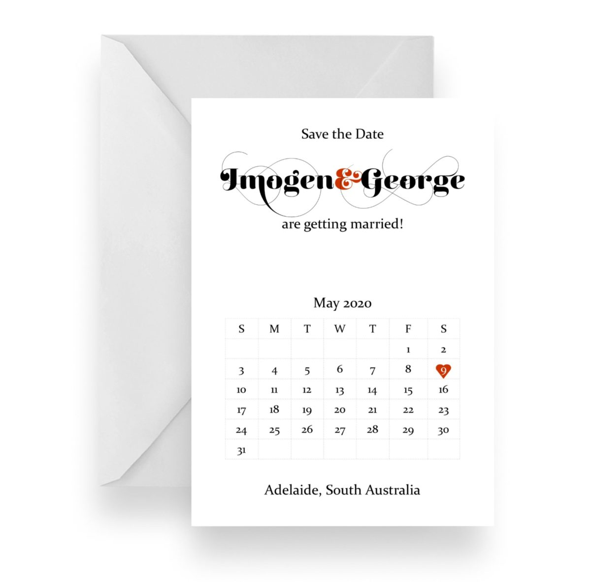 035 Imogen & George calander save the date