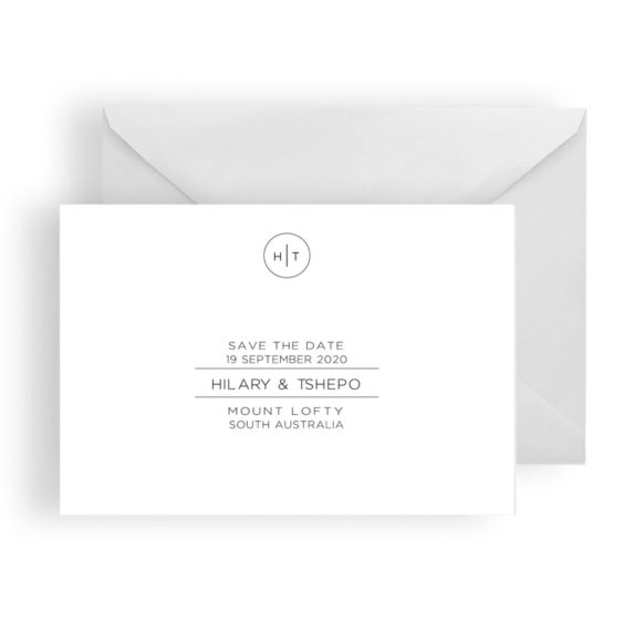 038 Hilary Monogram Save the Date