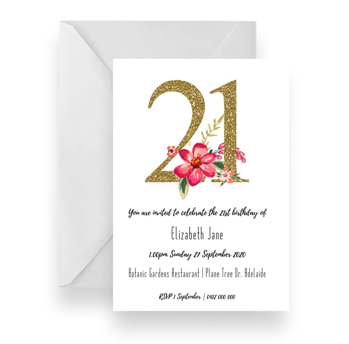 057 Elizabeth Jane 21 Floral Number