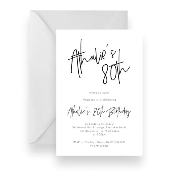 120 Modern Script Birthday Invitation WEB