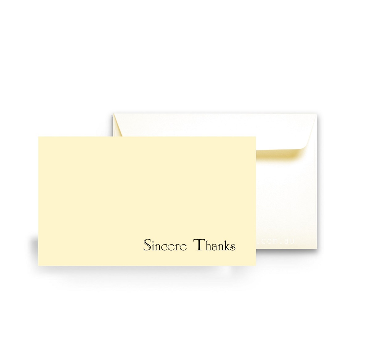 124 Eligant Simple Sympathy Thank you card folded WEB