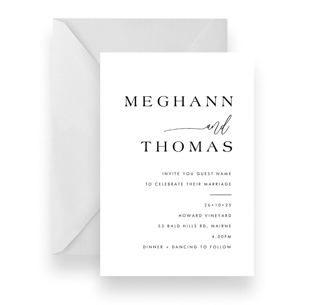 127 Simple Wedding invitation WEB