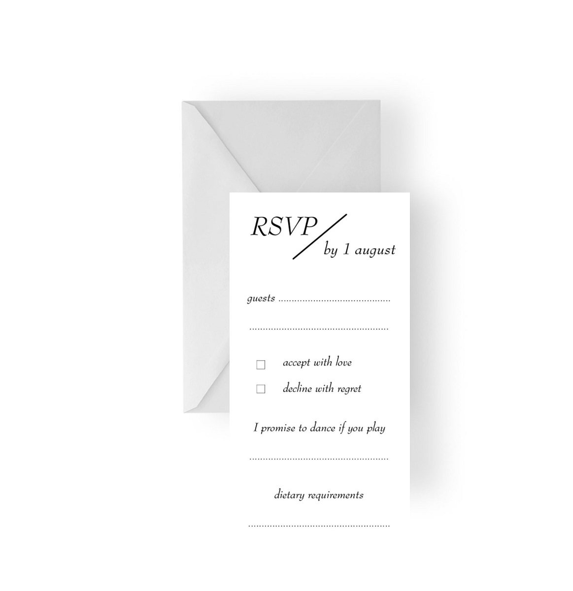 130 Modern Stylish Simple RSVP Reply card WEB