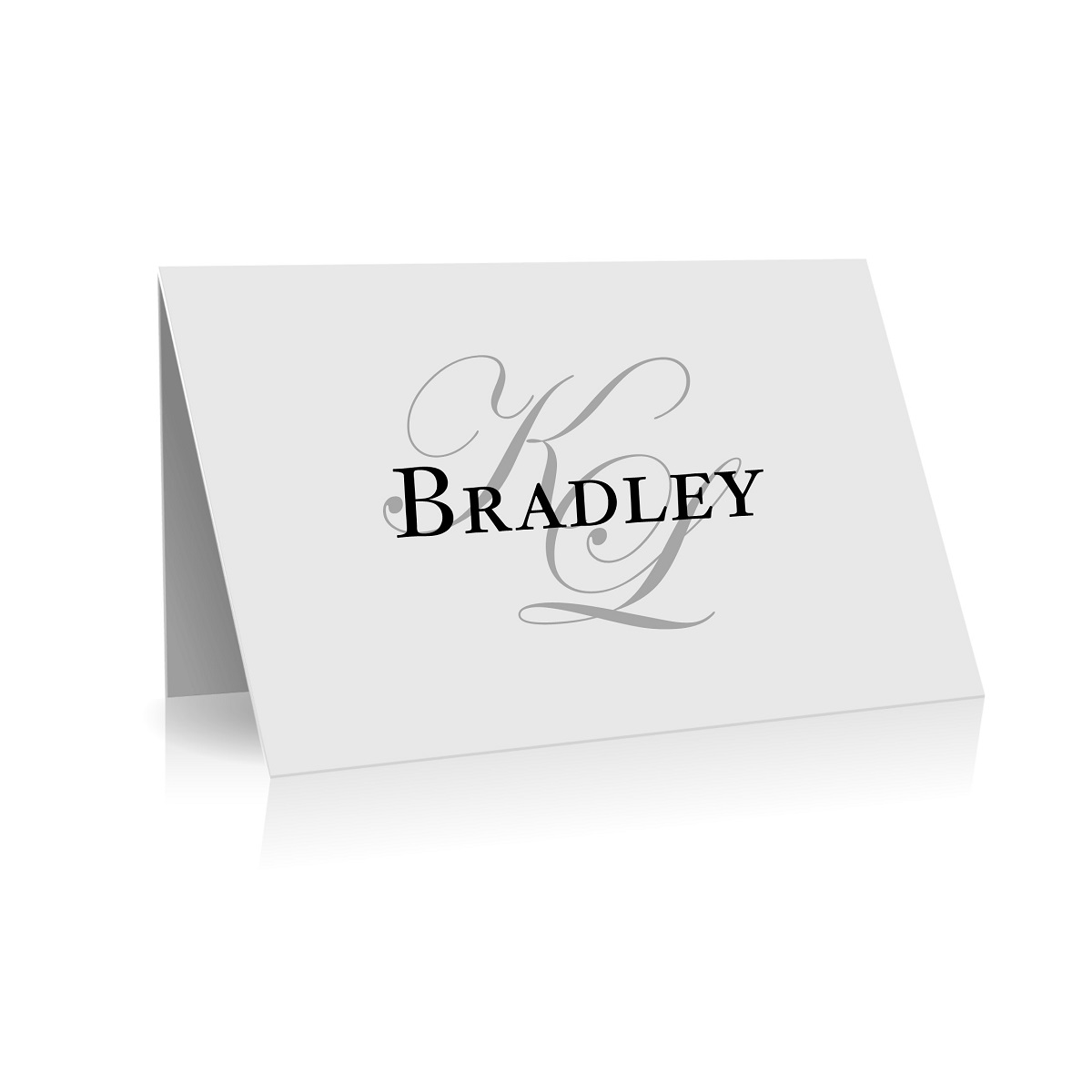 136 Place Card Faded Initials WEB