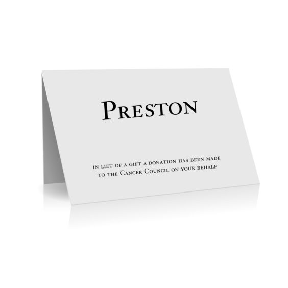 138 Place Card with Thank you Message WEB