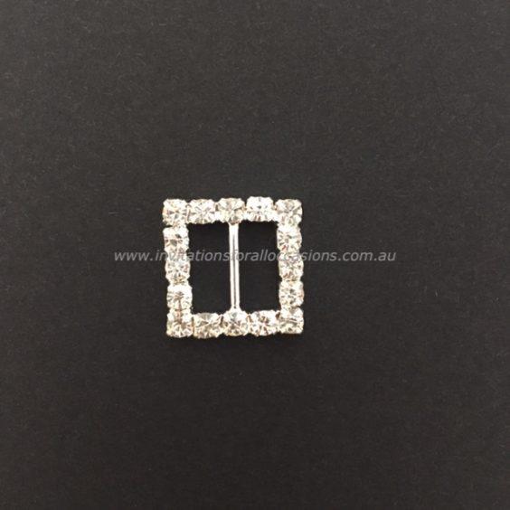 DIY-063 Embelishment Bling Square Diamante Buckle