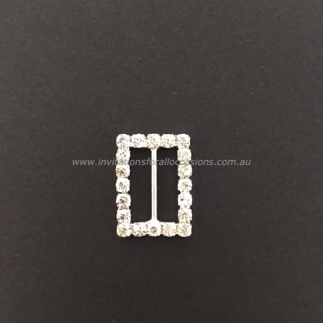 DIY-066 Embelishment Bling Rectangle Diamante Buckle