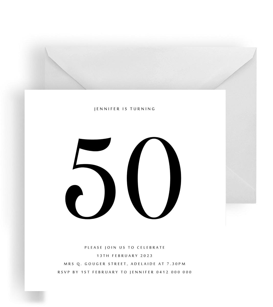 234 Minimalist Milestone Birthday Square